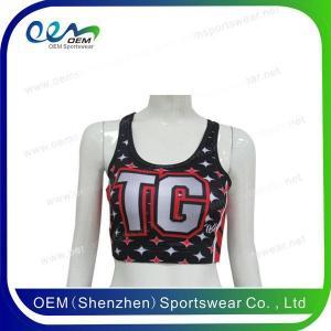 China cheer sports bra on sale