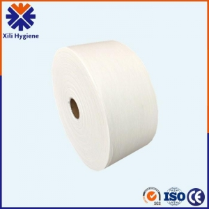 China Hot Air Whitening Nonwoven Fabric For Making Sanitary Napkin Materials supplier