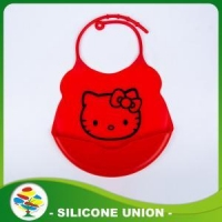 Promotion Silicone Cartoon Baby Bib With Snaps
