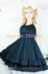China Support Dance Women Butterfly Sleeve Gothic Lolita Dress With Removable Neck Ornament L15 on sale