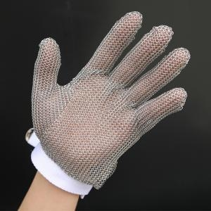 China 5101-Five Finger Wrist Glove With Textile Strap on sale