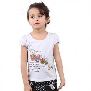 China OEM wholesale girl's cotton t shirt on sale