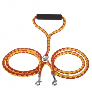 China Adogo Dual Dog Parade No-Tangle Double Dog Lead Leash Coupler for 2 Dogs on sale