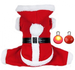 China Adogo Puppy Doggie Christmas Suit Coat Pet Dog Santa Costume Outfit With a Christmas Gifts on sale