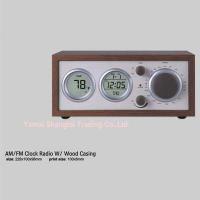 Consumer Electronics(16)  AM FM clock radio with wood casing