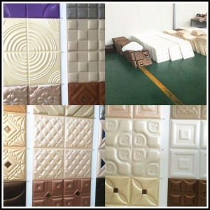 China Leather 3D Wall Covering Tile on sale
