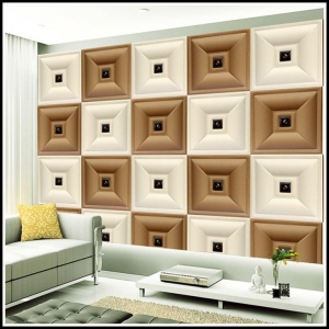 China 3D Carved Leather Fire Resistant Decorative Wall Panel on sale
