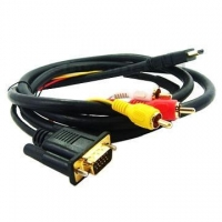 HDMI /M to VGA +3 RCA /M cable for TV Box