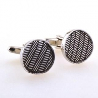 Round shape zebra crossing novelty cufflinks HL0773324