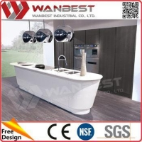 China Custom Made Commercial Kitchen Cabinets Decorative Modern Kitchen Accessories on sale