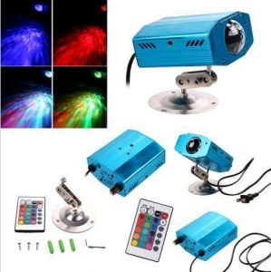 China RGB LED Water Ripples Light Stage Lamp Projector With Remote Controller on sale