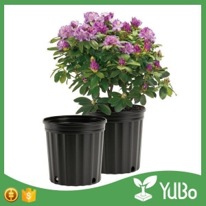 China 7 Gallon Black Large Outdoor Flower Pots For Plants on sale