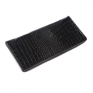 China PU Crocodile Leather Checkbook Cover Case With Pen Holder For Men Or Women on sale