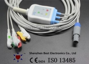 China GE Marquette ECG cable and leadwires compatible with GE VIVID on sale