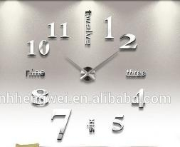China Big Oval Muslim Azan Mosque Prayer Islamic 3D Digital Plastic Wall Clock on sale