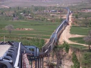 China Overland Curved Belt Conveyor on sale