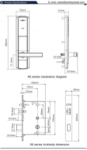 China X6-01 RFID electronic lock wholesale on sale