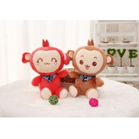 Wholesale Infant Baby Plush Stuffed Toy Pacifier With Plush Monkey Toy