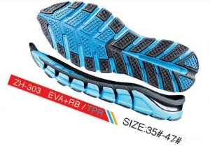 China EVA form Rubber Soft Sole for Gym Shoes on sale