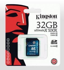 China Kingston SDHC Class 10 100X 32GB on sale
