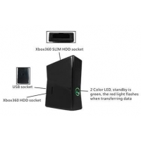 2 IN 1 XBOX 360 to PC Hard Drive Reader Data Tranfer Box for XBOX360 & XBOX360 Slim