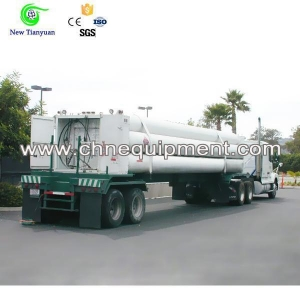 China Low Priced High Pressure Hydrogen Gas 11-Tube Bundle Semi Trailer on sale