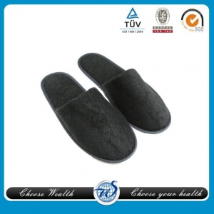 China Velvet Hotel Slipper on sale