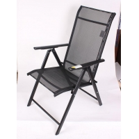 China 5 Position Adjustable Folding Arm Beach Outdoor Sling Chair Garden Chair on sale