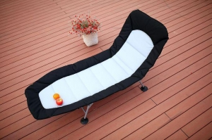 China Outdoor Adjustable Beach Bed Lounge Chair Padded on sale