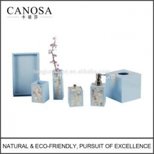 China 2016 Hot Sale Luxury Shell Lacquer Bathroom Set for Hotel on sale