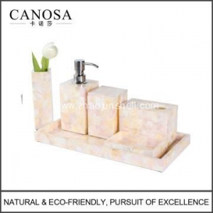 China Handmade Mother of Pearl Bath Amenity Set on sale