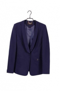 China Ladies' Cotton One-button Casual Suit Blazer/Jacket With Lapel on sale