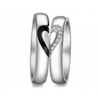 China Wing & Crown His and Hers Promise Rings Matching Set for Couple in 925 Sterling Silver on sale