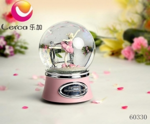 China Ballerina Girl Snow Globe Music Boxes China on sale