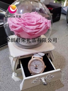 China Preserved Flower Jewelry Music Boxes on sale