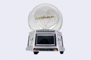 China 120MM LOVE Snow Globe Music Box on sale