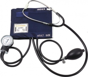 China Aneroid Sphygmomanometer With Single Head Stethoscope on sale