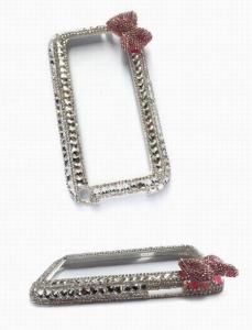 China Crystal Bowknot Mobile Phone Protective Bumper for Samsung Galaxy Note 2 Model:MB879 on sale