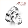 China Myshine fashion jewelry mens rings 5925 silver ring diamond for sale