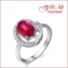 China Myshine pure silver jewellery online womens rings 925 silver diamond ring for sale