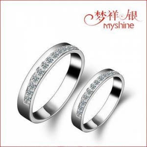 China Myshine designer silver jewellery costume jewelry rings 925 silver couple ring wholesale