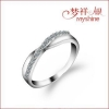 China Myshine contemporary silver jewellery silver finger rings 925 silver cz ring for sale