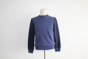 China Melange Fleece Sleeves Crew Collar Sweater For Men on sale