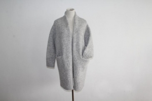 China Ladies Chunky Knit Cardigan Overcoat on sale