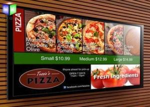 China Backlit Advertising Aluminum LED Light Box Fast Food Menu Board For Restaurant on sale