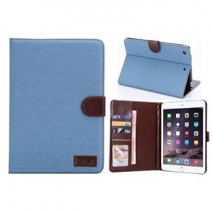 China Denim Pu leather stand case cover for ipad mini on sale