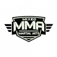 MMA Shield Badge Embroidery Design Mixed Martial Arts