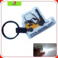 China cheap full color printing LED Torch keychain ,pvc torch keychain, plastic torch on sale