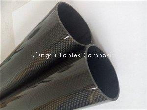 China Round 3K Carbon Fiber hollow pipe on sale