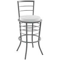 Amisco Industries Broadway Stool with Backrest